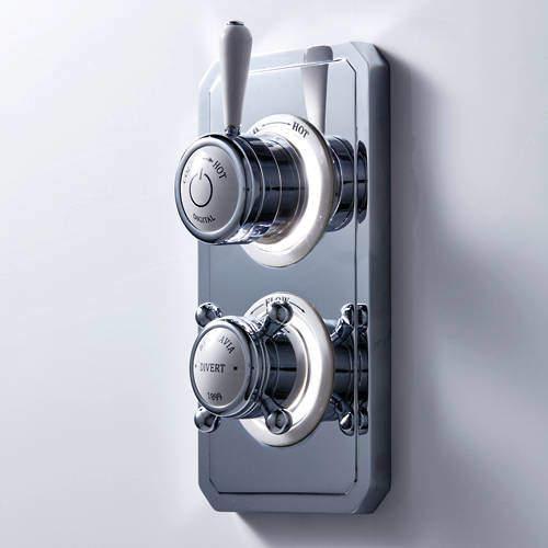 Crosswater Belgravia Digital Dual Outlet Digital Shower Valve (L-Head, LP).