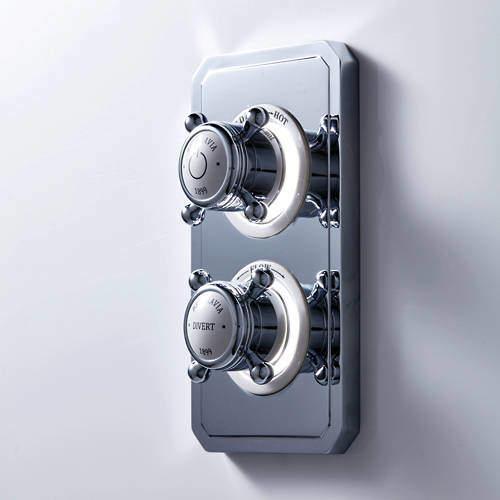 Crosswater Belgravia Digital Dual Outlet Digital Shower Valve (X-Head, LP).