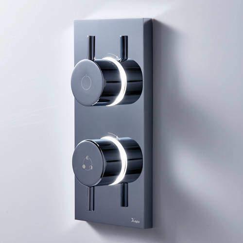 Crosswater Kai Digital Showers Dual Outlet Digital Shower Valve (LP).