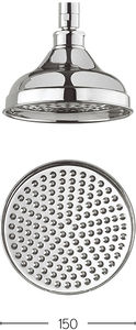Crosswater Belgravia 150mm Round Shower Head (Chrome).