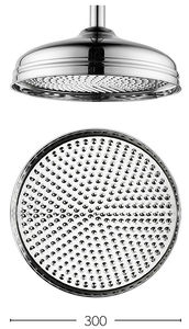 Crosswater Belgravia 300mm Round Shower Head (Chrome).