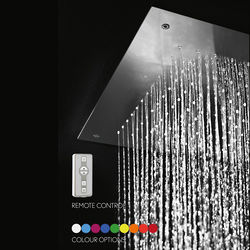 Crosswater Illuminated Ceiling Mounted Square LED Shower Head 380x380mm.
