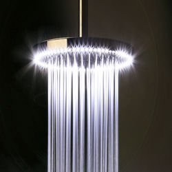 Crosswater Illuminated Rio White LED Shower Head (240mm diameter).