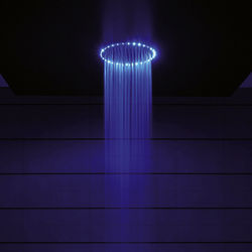Crosswater Illuminated Rio Blue LED Shower Head (240mm diameter).