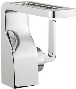 Crosswater KH Zero 1 Basin Mixer Tap With Lever Handle (Chrome).