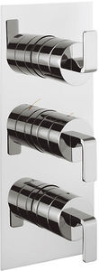 Crosswater KH Zero 1 Thermostatic Shower Valve With 2 Outlets (3 Handles).