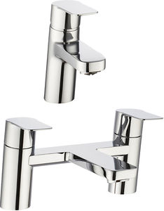 Crosswater KH Zero 6 Basin & Bath Filler Tap Pack (Chrome).