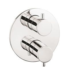Crosswater Industrial Crossbox 2 Outlet Shower Valve (Chrome).