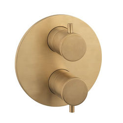 Crosswater Industrial Crossbox 3 Outlet Shower Valve ((Un Brushed Brass).