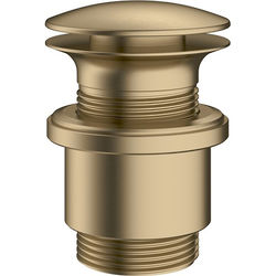 Crosswater MPRO Unslotted Click Clack Basin Waste (Brushed Brass).