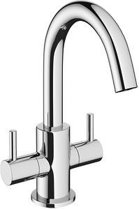 Crosswater Mike Pro Mono Basin Mixer Tap With Lever Handles (Chrome).