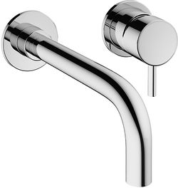 Crosswater Mike Pro Wall Mounted Basin Mixer Tap (2 Hole, Chrome).