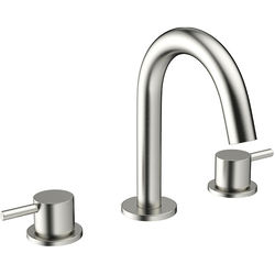 Crosswater MPRO Basin Mixer Tap (3 Hole, Brushed Stainless Steel).