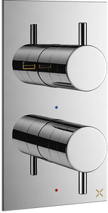 Crosswater Mike Pro Thermostatic Shower Valve (2 Way Diverter, Chrome).
