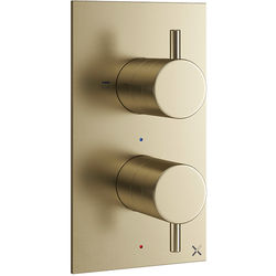 Crosswater MPRO Thermostatic Shower Valve With 2 Outlets (B Brass).