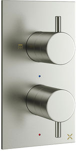 Crosswater Mike Pro Thermostatic Shower Valve With 2 Outlets (B Steel).