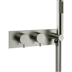 Crosswater MPRO Thermostatic Shower Valve With Handset (S Steel).