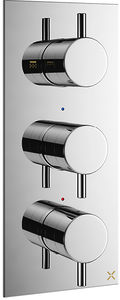Crosswater Mike Pro Thermostatic Shower Valve With 2 Outlets (3 Handles).
