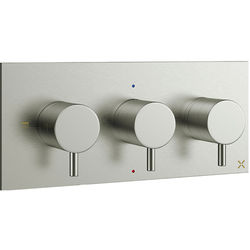 Crosswater MPRO Thermostatic Shower Valve With 2 Outlets (S Steel).