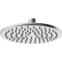 Crosswater MPRO Round Shower Head 200mm (Brushed Stainless Steel).