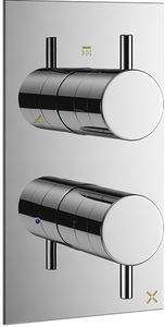 Crosswater Mike Pro Thermostatic Shower Valve With 3 Outlets (2 Handles).
