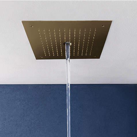 Crosswater MPRO Stream Shower Head (Brushed Brass).