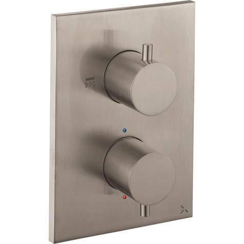 Crosswater MPRO Crossbox 1 Outlet Shower Valve (Brushed Steel).