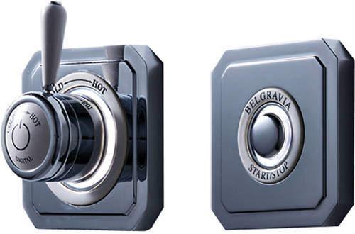 Crosswater Belgravia Digital Digital Shower Valve & Remote (L-Head, HP).
