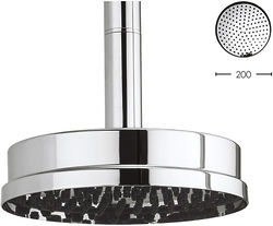 Crosswater Waldorf 200mm Round Shower Head With Easy Clean (Chrome).