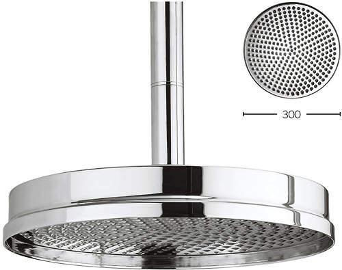 Crosswater Waldorf 300mm Round Shower Head (Chrome).