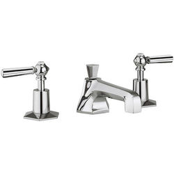 Crosswater Waldorf 3 Hole Basin Tap With Chrome Lever Handles.