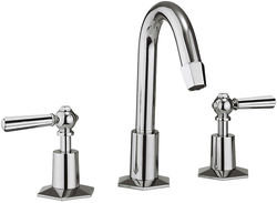 Crosswater Waldorf 3 Hole Basin Tap, Tall Spout & Chrome Lever Handles.