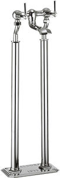 Crosswater Waldorf Floorstanding Bath Filler Tap With Chrome Lever Handles.