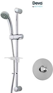 Deva Azure Concealed Thermostatic Shower Valve With Single Mode Kit.