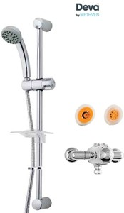 Deva Azure Exposed Thermostatic Shower Valve, Single Mode Kit & Regulator.