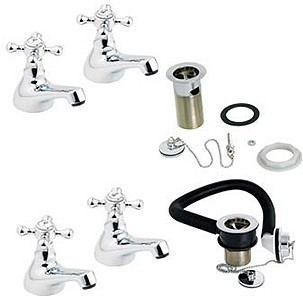 Deva Tudor Bathroom Tap Pack 1 (Chrome).