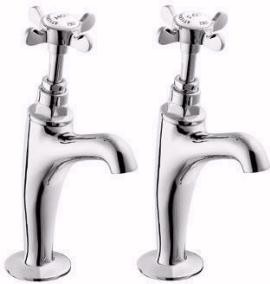 Deva Coronation BS1010 High Neck Sink Taps (Pair, Chrome)