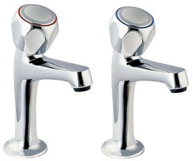 Deva Profile High Neck Sink Taps with Round Profile (pair).