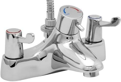 Deva Thermostatic TMV2 Thermostatic Bath Shower Mixer Tap With Shower Kit.