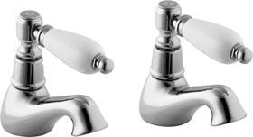 Deva Georgian Bath Taps (Pair, Chrome).