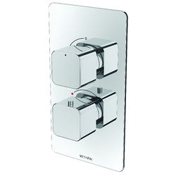 Methven Kiri Concealed Thermostatic Mixer Shower Valve (Chrome, 1 Outlet).