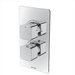 Methven Kiri Concealed Thermostatic Mixer Shower Valve (Chrome, 2 Outlets).
