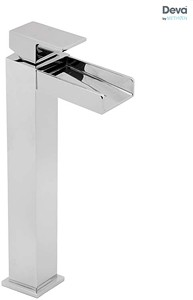 Deva Sparkle Waterfall Tall Mono Basin Mixer Tap (Chrome).