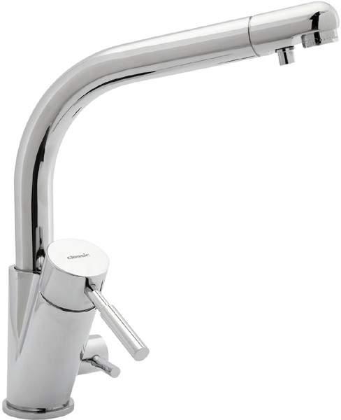 Deva Designer Str3am Modern Water Filter Kitchen Tap (Chrome).