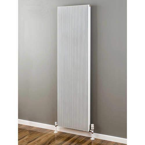 EcoHeat Hadlow Vertical Aluminium Radiator 1526x480 (White).