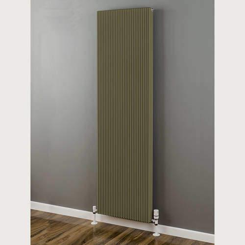 EcoHeat Hadlow Vertical Aluminium Radiator 1826x400 (Grey Beige).