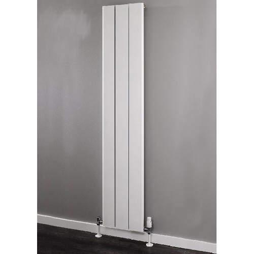 EcoHeat Radcliffe Vertical Aluminium Radiator 1800x596 (White).