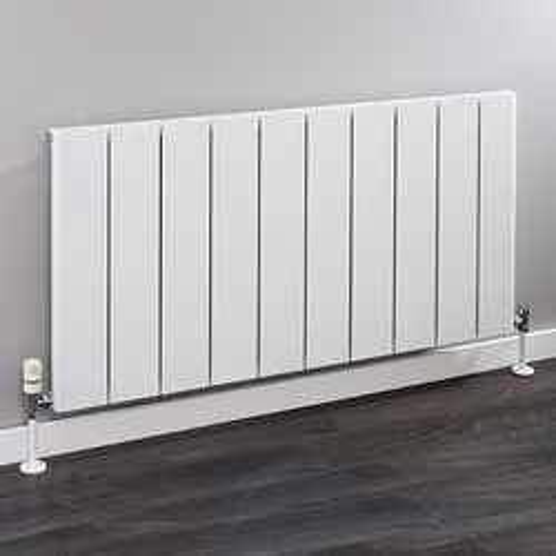 EcoHeat Radcliffe Horizontal Aluminium Radiator 600x1436 (White).