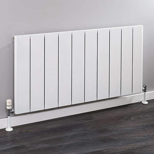 EcoHeat Radcliffe Horizontal Aluminium Radiator 600x956 (White).