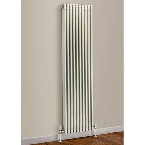 EcoHeat Woburn Vertical Aluminium Radiator 1470x270 (White).
